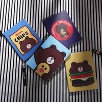 Para iPad Air Pro Mini Funda protectora con carcasa plana Computadora Sleeve Table PC Funda de cuero Cartoon Bear Cute