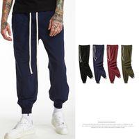Wholesale jogger pants for men style - New Retro Colors Sports Pants for Men Old School Style Solid Casual Cotton Sportswear Hip Hop Jogger Pants Classic Drawstring Pencil Pants