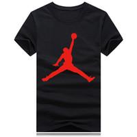 ingrosso camicie da basket-Maglietta sportiva rotonda del collo di sport del nuovo di pallacanestro degli uomini di marca di modo delle donne Maglietta del bicchierino del manicotto della maglietta divertente degli uomini del cotone di stampa