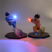 ingrosso modello del fumetto del bambino-Z Son Goku Anime Night Light Action PVC Figure da collezione Lampada da tavolo fai da te Modello 3D Toy DBZ per Kid Baby