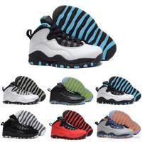 zapatos de baloncesto de los hombres de salida al por mayor-[Con la caja] Venta al por mayor barato nuevo 10 X GS Fusion 10s zapatos de baloncesto para hombre outlet Best Quality us Men Free shipping US8.0-13