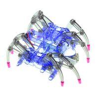 ingrosso giocattolo di ragno diy-Novità Intelligenza FAI DA TE Giocattoli Assemblati Giocattolo Educativo Apprendimento Giocattoli Elettrico Crawl Spider Robot Developmental Regalo Per Kid 12 5xk W