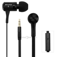 Wholesale awei cable online - Awei ES100i m Cable Length In ear Earphone with Mic for Mobile Phone Tablet PC