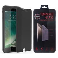 protetor de tela de qualidade venda por atacado-Privacidade anti espião protetor de tela de vidro temperado film para iphone xs max xr 7 plus 6 6 s com caixa de varejo de alta qualidade