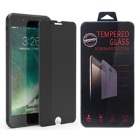 Discount glasses for 3d - Privacy Anti Spy Tempered Glass Screen Protector Film for iPhone Xs Max Xr 7 Plus 6 6s with Retail Box High Quality