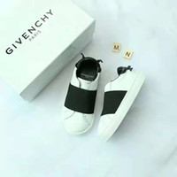 Wholesale casual shoes boy 37 for sale - Group buy Kid leather sneaker black red color brand run shoe for boy girl fashion casual shoes EU send with box