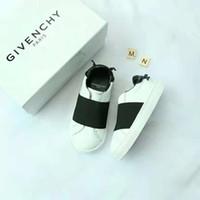 ingrosso cuoio nero dei ragazzi-Sneaker da bambino in pelle colore nero scarpa da corsa di marca per scarpe casual moda bambina ragazzo UE 22-37 invia con scatola