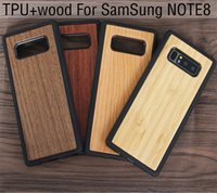 Wholesale iphone laser engraving - Laser Engraving Phone Case For Samsung Galaxy Note 8 S8 Plus TPU Bamboo Wood Case For Iphone 8 X 7 6 6s plus Wooden Cover