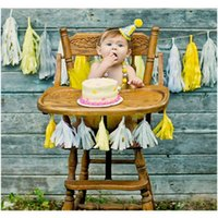 Wholesale birthday bunting - Baby Birthday Party Decoration Boy Girl Lace Polka Dot Bunting Supplies Kids Party Banner Garland Decor For Baby Festival DIY Decoration