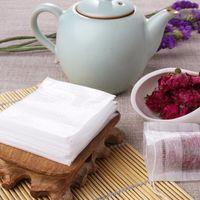 Wholesale Empty Drawstring Tea Bags - 100pcs lot 7*9cm Biodegraded Empty Tea Bags Corn Fiber Drawstrings Herb Infuser Bags Disposable Coffee Filters Strainers