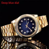 Wholesale bronze clasps resale online - 2018 Quartz Man Watches Retail relogio masculino men watches Luxury wrist fashion Master Male Watches With Folding Clasp