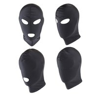 Wholesale erotic sex cosplay online - Adult Games Sex Mask Open Mouth Eye BDSM Bondage Fetish Mask Restraint Sex Kinky Mask Hood Erotic Slave Cosplay Toys For Couples S924