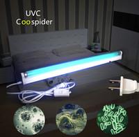 Wholesale uv germicidal light for sale - Group buy AC110 V T8 Ultraviolet Germicidal UVC OZONE Lamp Kit Compact Bulb Household Sterilizer Kill Dust Mites Bacteria Air clear F15Watt
