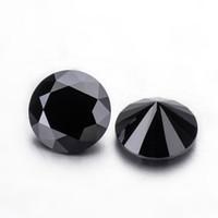 Wholesale gems loose stones resale online - Black color moissanites mm round brilliant cut moissanites loose gems stones for jewelry making loose diamonds