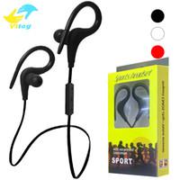 Wholesale Earhook Mic - BT1 Wireless headset Bluetooth Sport Earhook Earbuds Stereo Over-Ear Wireless Neckband Headset Headphone with Mic for Universal Cellphone