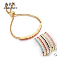 bracelet en diamant couleur achat en gros de-Le nouveau bracelet de diamants en plaqué or couleur 18K Bracelet Bracelet réglable de style européen Mme