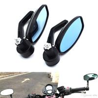 yamaha yan aynalar toptan satış-Motosiklet Bisiklet Dikiz Aynası Yan Ayna Ile 7/8 '' Gidon TAMX530 Için MTB Alüminyum CNC Alüminyum MT-07 MT-09 FZ1 YZF R6 r1