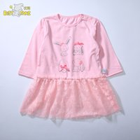 лучшие модели одежды оптовых-best jane patchwork dress autumn blossom pattern baby clothes full-sleeve lace dress for children