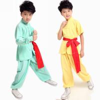 ropa wushu al por mayor-Niños Traje de Kungfu Chino Niños Wushu Ropa de Baile Ropa Tradicional China Chi-ji Traje de la Danza de Manga Larga 16