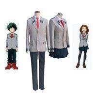 Boku no Hero Academia AsuiTsuyu Yaoyorozu Momo School Uniform My Hero Academia OCHACO URARAKA Midoriya Izuku Cosplay Costume