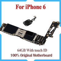 Wholesale apple board - 64GB Original Unlocked for iPhone 6 Motherboard with Touch ID,Fingerprint Function for iphone 6 Logic Boards