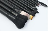 Wholesale brushes black iron for sale - Hot Makeup set Professional black Makeup Brushes Set With Iron Box