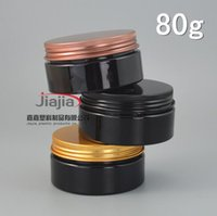 Wholesale lid aluminum resale online - g black PET Can with Gold black bronze aluminum Lid Plastic Canning Jar Plastic Can Food Can ml container