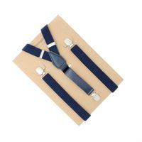 Wholesale Men Suspender Suit - 3 Clips 130cm Extra Longer Tall Men Unisex Suspender Fit PU Polyester Mix Old Fat Man Suit Trousers Wear Fashion Classic