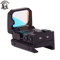 gewehrstrecken für die jagd groihandel-Sinairsoft Taktische Falten Red Dot Sight Scope Holographische Reflex Gewehr Pistol Pistole Jagd Sight Scopes 3 MOA Einstellbare 10 Helligkeit
