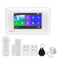 diy sistema de alarme de segurança venda por atacado-BONLOR Todos Os Tela de Toque Versão Alexa 433 MHz GSMWIFI DIY Casa Inteligente Monitor de Segurança Sistema de Alarme Kits Para Frete Grátis