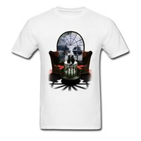 camisetas personalizadas al por mayor-Los hombres de algodón puro de manga corta cráneo superior Top camisetas de diseño Tops 2018 Custom Crew Neck Sweatshirts Wholesale