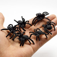 sıcak satış oyuncakları toptan satış-Sıcak satmak PVC Simülasyon Örümcek Böcek Hayvan Modelleri Aptal Oyuncaklar Siyah spide oyuncak Saç Bun Maker 100 adet