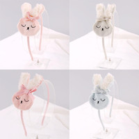 Wholesale bunny ornaments - lovely Rabbit Bow Children hair Stick Baby Girls Hair accessories Kids Birthday party Sweet Bunny Hairs ornament