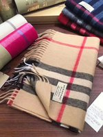 Wholesale large print box online - Winter Luxury Brand Cashmere Scarf For Women and Men With Round Tube Box Designer Large Plaid Scarves Pashmina Infinity Scarfs