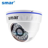 onvif kubbesi toptan satış-Smar H.264 Dome IP Kamera 720P 960P 1080P CCTV Kamera Kapalı 24 saat Video Gözetim ONVIF PoE 48V Opsiyonel En iyi fiyat