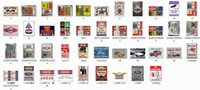 Wholesale metal wall arts - all best almost all the tin design on dhgate Vintage Tin Signs Retro Metal Sign Painting Decor The Wall Mixed designs