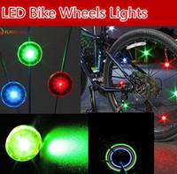 Wholesale bike light flash online - New Bike Bicycle LED Wheels Lamp Spokes mini hot wheel Lights Motorcycle Electric car flash Bike Lights