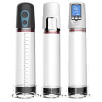 Wholesale dick pumps resale online - Electric Shop Pump Male Vibrator For Men Y1892003 Erection Pump Penis Penis Vacum Penile Extend Training dick Sex Toys Enlargemen Djpsk