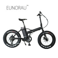 Wholesale folding electric bike lithium battery - Drop shipping USA CANADA High Speed Fat tire electric bike 20 inch folding electric bicycle