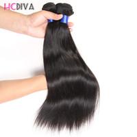цена пряжи человеческого волоса оптовых-Перуанский девственница прямые человеческие волосы класс 8А необработанные девственные волосы ткет 3 пучка Оптовая Фабрика прямая цена бразильские волосы