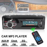 usb 12v fahrzeug großhandel-12V LCD Display Autoradio MP3 Player Fahrzeug Stereo Audio In-Dash Aux Input Receiver Unterstützung TF / FM / USB / SD mit Fernbedienung CAU_02A