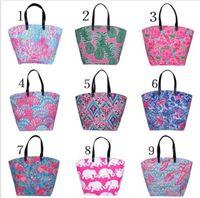 ingrosso stampa su tela-Le donne di colore 9 borsa di tela delle borse di viaggio della borsa a tracolla della tela di immagazzinaggio della spiaggia fioriscono le borse di acquisto di capienza di grande capacità delle donne di tote KKA4833