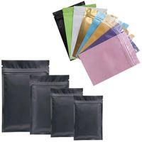 мешки для продуктов оптовых-Multicolor мешок застежки-молнии алюминиевой фольги Mylar полиэтиленового пакета для долгосрочного покрашенных хранения еды и предохранения от collectibles 2 бортовых