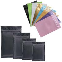 ingrosso foods-Sacchetto di plastica multicolore Sacchetto di chiusura lampo foglio di alluminio Mylar per la conservazione di alimenti a lungo termine e la protezione da collezione due lati colorati
