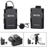 Wholesale Video Recording Pc - BY-WM4 Wireless Lapel Lavalier Microphone System for Smartphones Phone DSLR PC Computer Camcorder Recorder Audio Video Recording