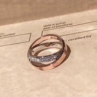 oro presente al por mayor-Calidad superior de moda 925 sterling silve madre anillos plata oro rosa amor anillos de plata anillo del amante de la boda cz piedras regalo de cumpleaños