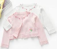 pamuk bebek şal toptan satış-Beş Renk Bebek Kazak Kız Hırka Şal Zarif Elmas Hem Tasarım Parti Elbise Aksesuarları Şekil Tutmak