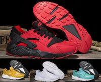 Wholesale popular men shoes brand - Huarache Running Shoes Men Women Grey Airlis Huaraches Sports Tennis Popular Men's Women's Zapatillas Deportivas Brands Original Sneakers