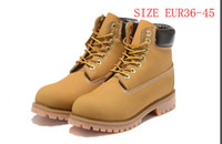 Discount premium boots - 2017 fashion Brand Motorcycle Boots Men Casual 6-Inch Premium Boots Women Waterproof outdoor 10061 Wheat Nubuck boots size 36-46