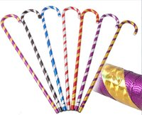 Wholesale walking stick crutches - Bright Coloured Stage Performance Props Fashionable Style Belly Dance Walking Stick Crutch Double Color Festive Supplies 10hy2 X